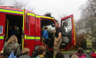 Raindrop trip to Goring fire station