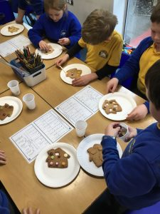 Raindrop class make gingerbread houses